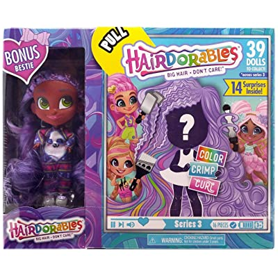 Hairdorables - Collectible Surprise Dolls and Accessories: Series 3 with Bonus Bestie (Kali): Toys & Games