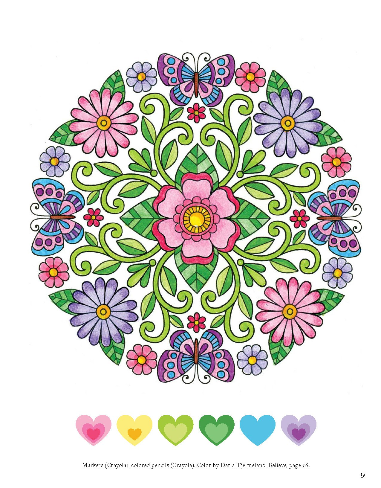 Colorful Creations Butterfly Mandalas: Coloring Book Pages Designed ...