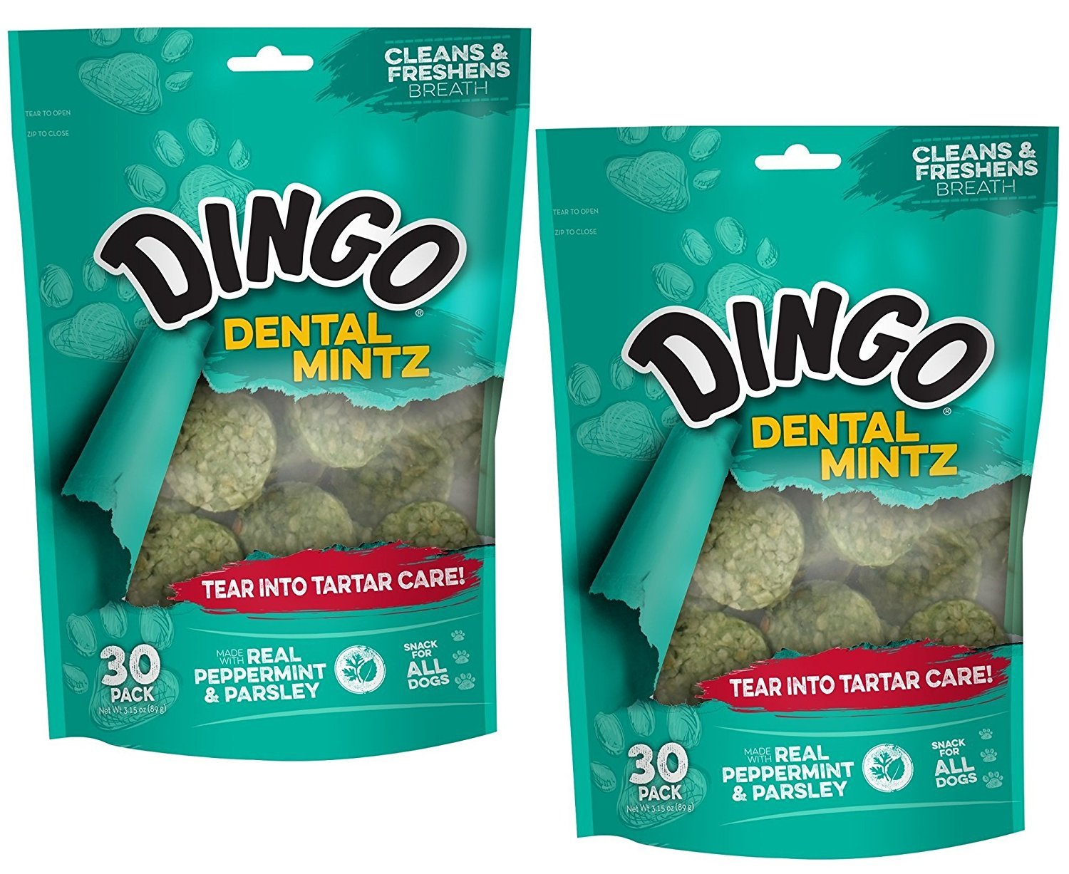 60Count Dingo Tartar and Breath Dental Mintz for All Dogs, 120Count
