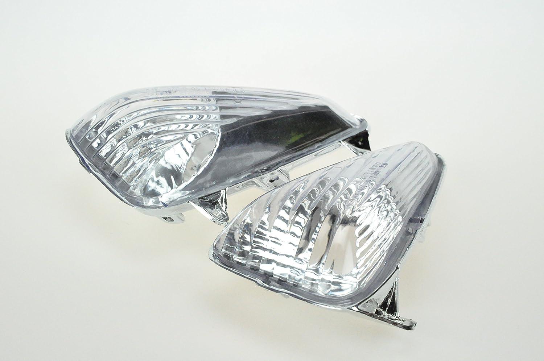 Topzone Lighting trasparente lente moto indicatori direzione per Honda Cbf600S Varadero 1000 2004-2009