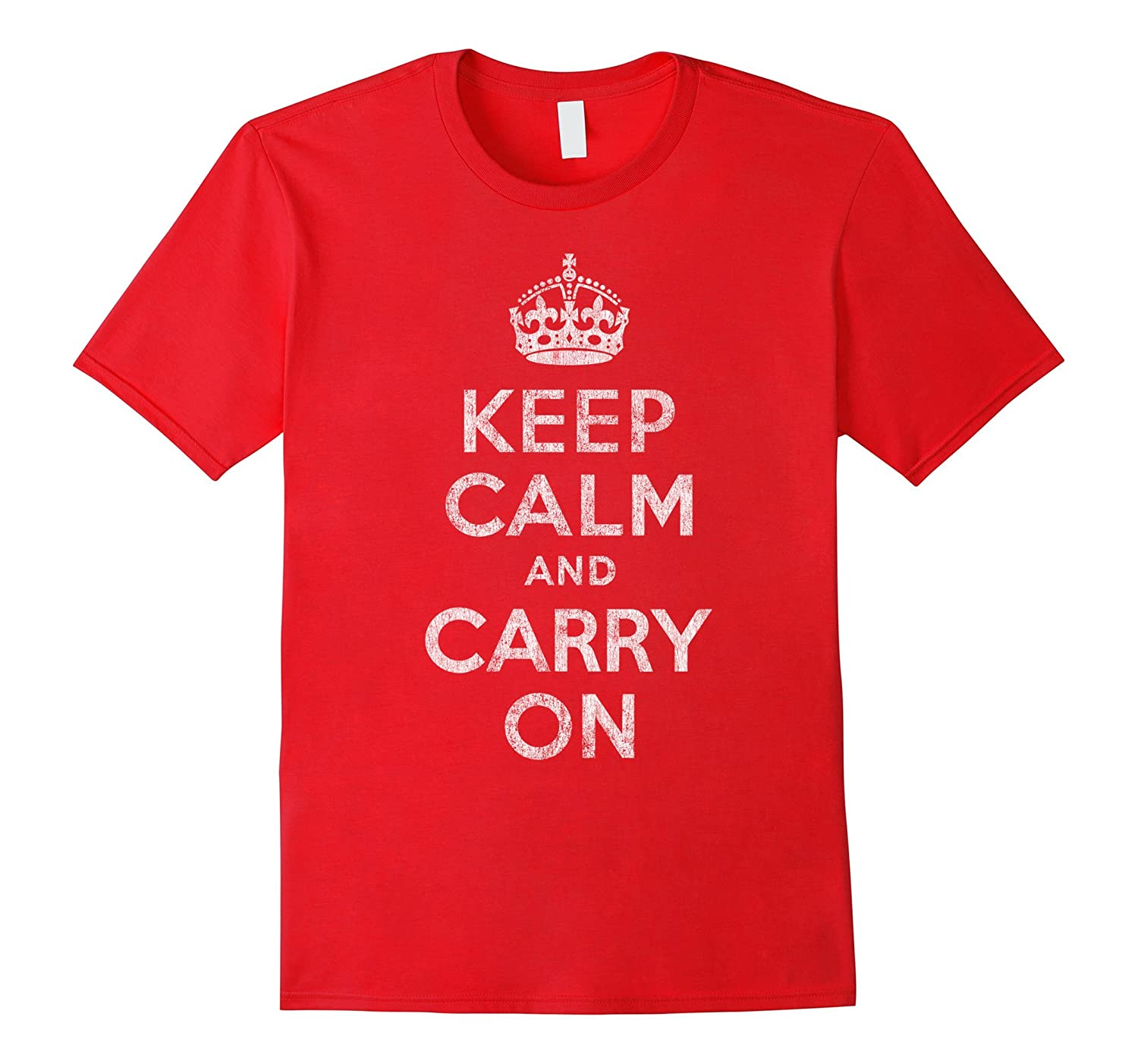 Vintage Keep Calm and Carry On T-Shirt-TD
