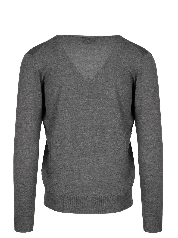 MORENO MARTINELLI Mens 542390A169 Grey Wool Cardigan