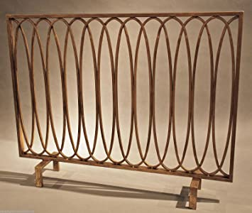 "Buy FIREPLACE SCREENS - ""HYDE PARK"" DECORATIVE FIREPLACE SCREEN - ANTIQUE GOLD - FIRE PLACE: Fireplace Screens - Amazon.com ? FREE DELIVERY possible on eligible purchases"