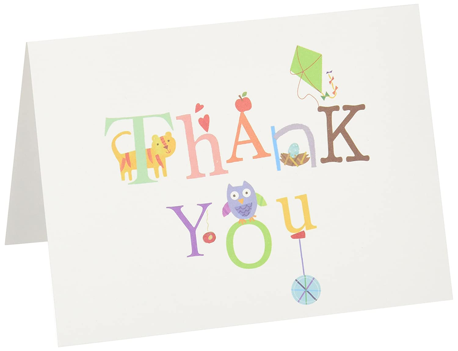 CRG Thank You Notes, 10 Boxed, Alphabet Cr Gibson C.R. Gibson Company NTT-7872 Notecards
