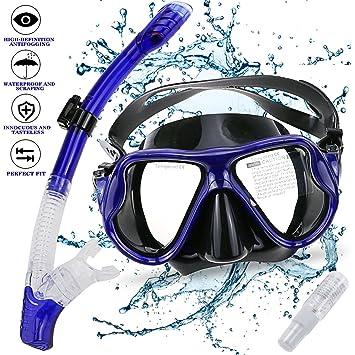 Gifort Máscara de Buceo, Snorkel Máscara, Máscara de Snorkel, Máscara Facial Completa con