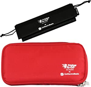 GetBacktoBasix Insulin Cooler Diabetic Medicine Travel Bag Standard - Insulated Epipen Carrying Case Keeps Medications Cool - FDA Approved | Standard