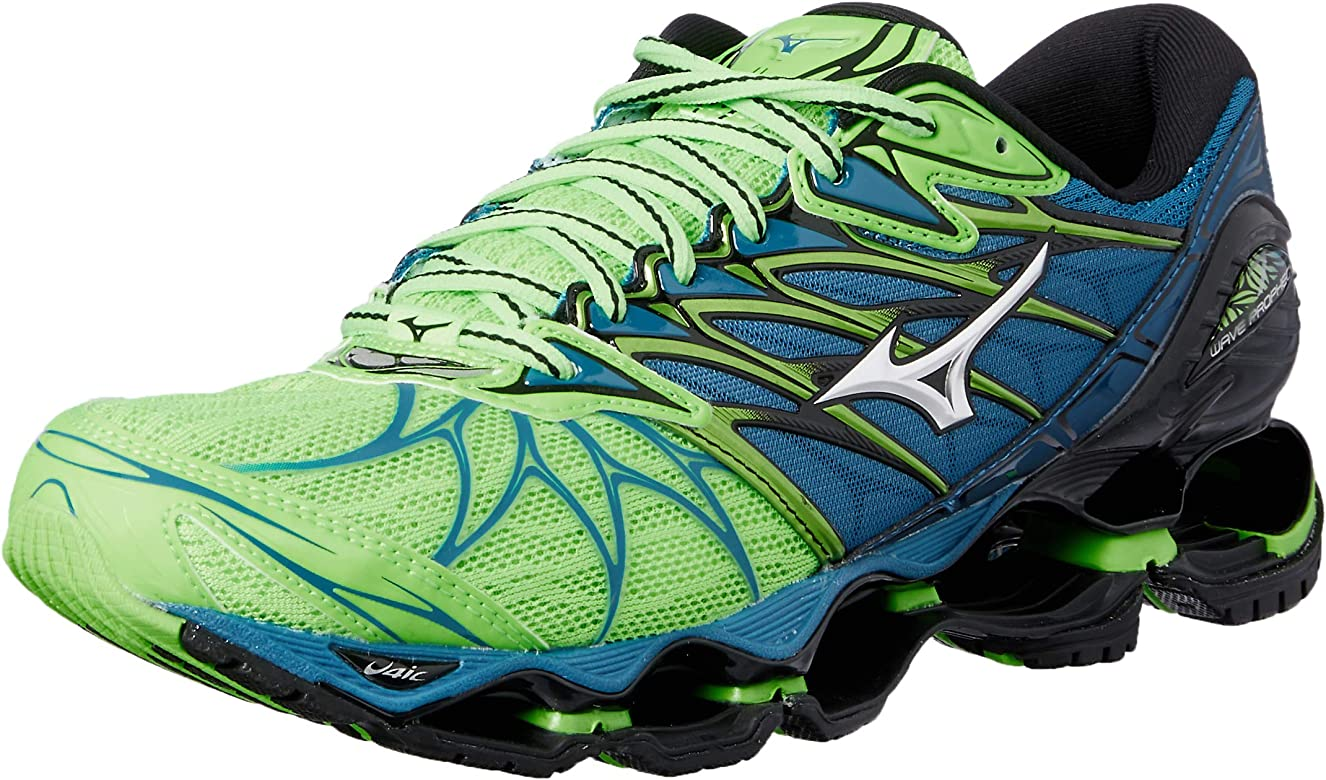 Mizuno Wave Prophecy 7, Zapatillas de Running para Hombre, Multicolor (Greengeckosilverbluesapphire), 40.5 EU: Amazon.es: Zapatos y complementos
