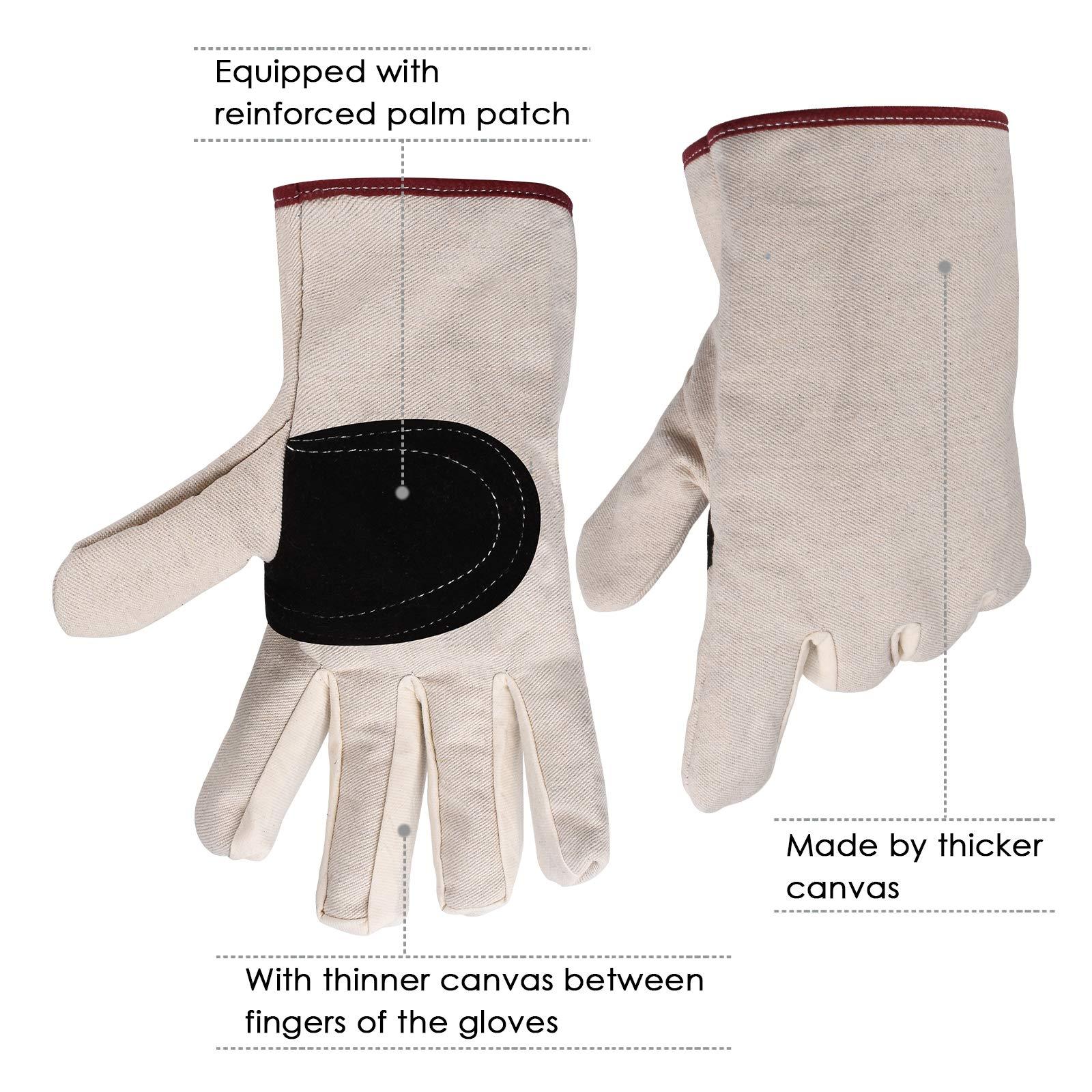 KORAM Bypass Pruning Shears Heavy Duty Hand Pruner with Garden Gloves - Ergonomic Handles Stainless, Steel Blades Garden Shears for Branch, Hedge, Shrub & Bush