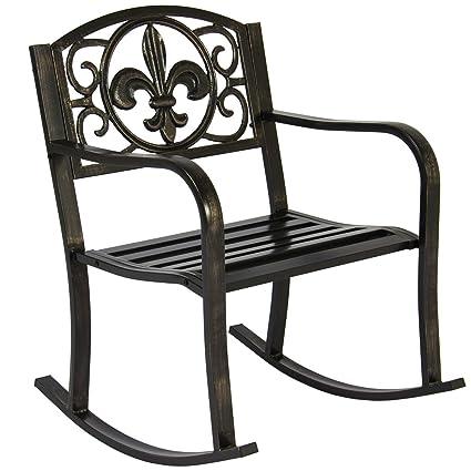 Excellent Amazon Com Koonlertshop Patio Metal Rocking Chair Porch Andrewgaddart Wooden Chair Designs For Living Room Andrewgaddartcom