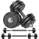 RUNWE Adjustable Dumbbells Set, Weights Dumbbells Barbell Weight Free Weight Set 40/60/80/100 lbs Exercise Fitness Weight Set