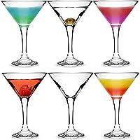 bar@drinkstuff Juego de 6 copas de Martini u