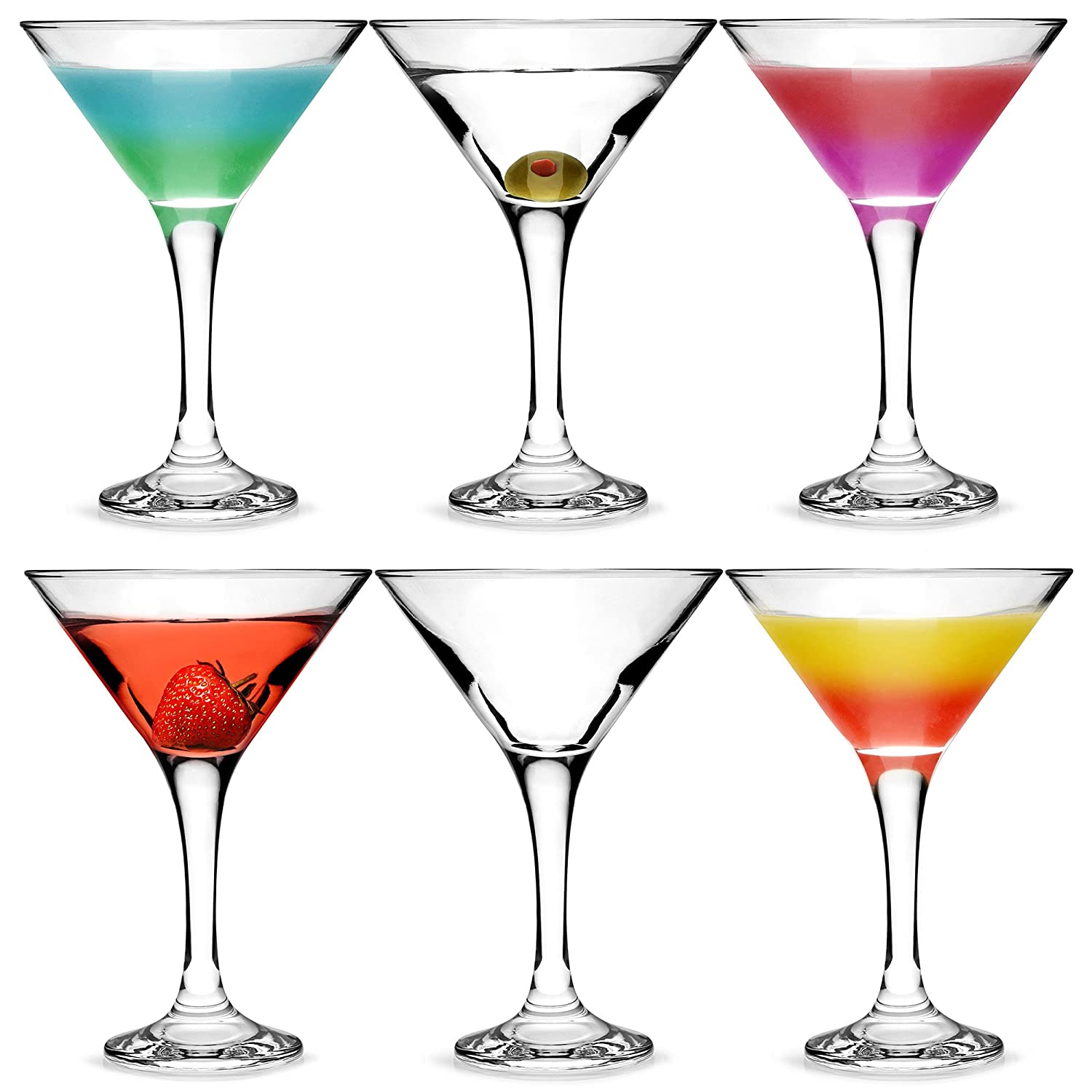 bar@drinkstuff City Martini Cocktail Glasses 175ml - Set of 6 - Gift Boxed Classic V Shaped Martini Glasses for Serving Cocktails