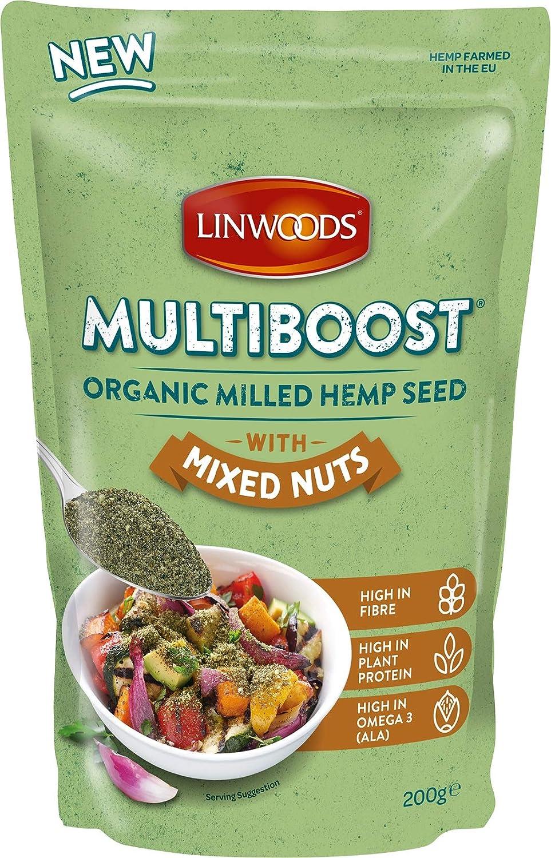 Semillas molidas de cáñamo y frutos secos bio Linwoods 200 g