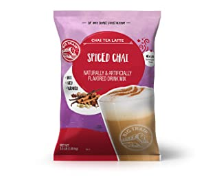 Big Train Spiced Powdered Instant Chai Tea Latte Mix, Spiced Black Tea with Milk, For Home, Coffee Shop, Restaurant Use, 56 Ounce
