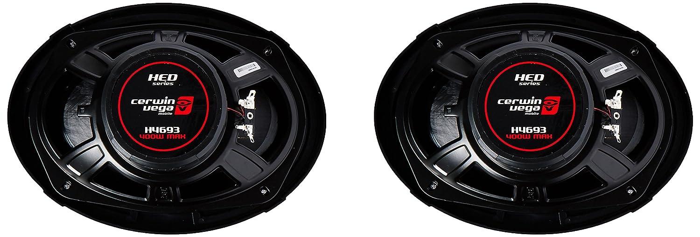 CERWIN VEGA H4693 HED 6-Inch x 9-Inch 420 Watts Max//60Watts RMS Power Handling 3-Way Coaxial Speaker Set