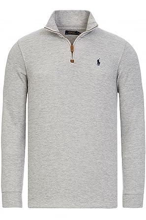 Polo Ralph Lauren Mens Heavy Cotton 1/4 Zip Knitted Jumper Sweater