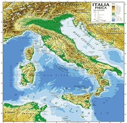 Cartina Fisica E Politica.Cartina Carta Geogrifica Italia Bifacciale Fisica Politica 100x140cm Plastificata Amazon It Cancelleria E Prodotti Per Ufficio