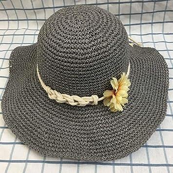Yc Hat Ladies Big Straw Hat Flower Decoration Fashion Fresh Hand