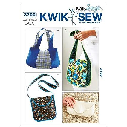 Amazon.com: Kwik Sew K3700 Kwik Serge Bags Sewing Pattern, No Size