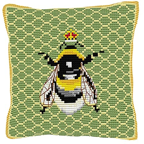 Amazon.com: Brigantia Needlework Bumble Bee – Punto de Cruz ...