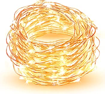 HOPDAY 33 ft 100-LED Waterproof Copper Wire Solar String Lights