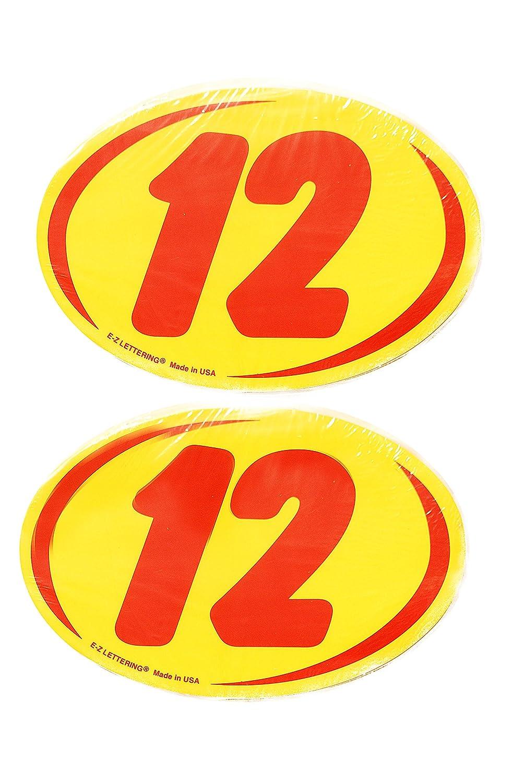 Great Link Oval Model Year Windshield Dealer 2 Dozen Stickers 2 Digit Yellow//Red Window Sticker R//Y 2006