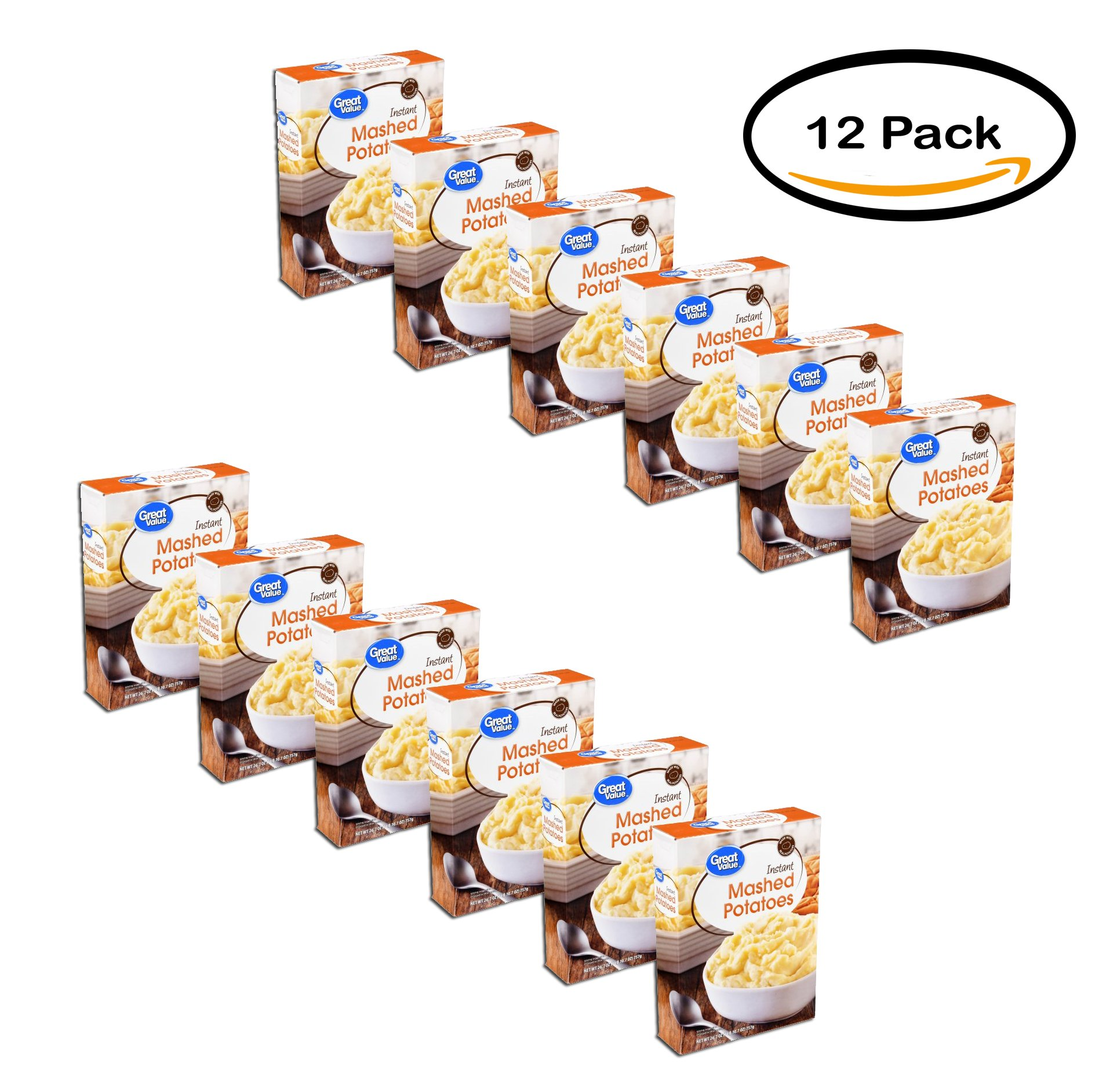 PACK OF 12 - Great Value Mashed Potatoes, 26.7 oz