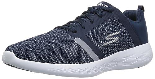 Go Run 600-Divert, Zapatillas Deportivas para Interior para Mujer, Azul (Navy), 38 EU Skechers