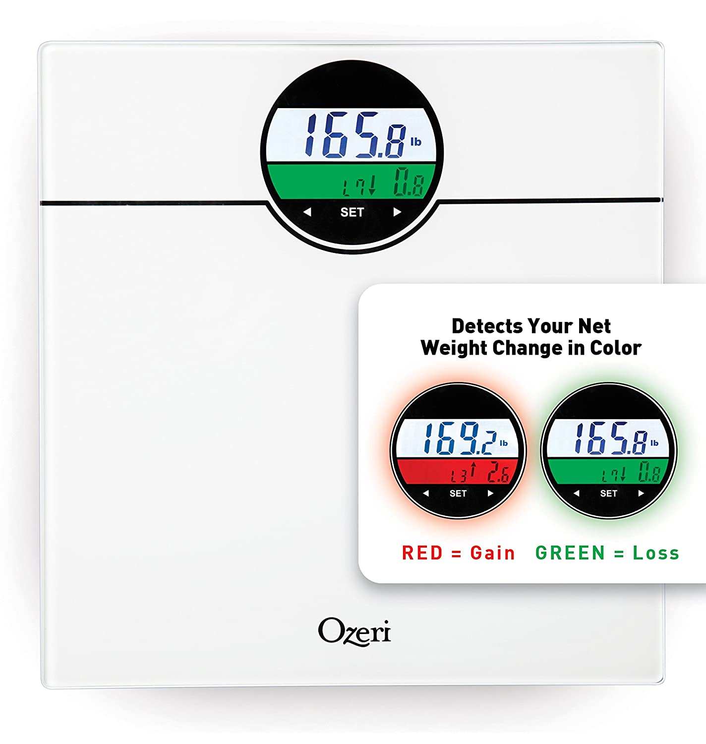 Bmi bathroom scales - Amazon Com Ozeri Zb21 W Weightmaster 400 Lbs Digital Bath Scale With Bmi And Weight Change Detection White Health Personal Care