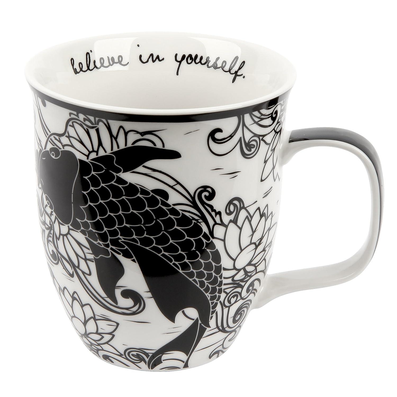 Karma Gifts Boho Black and White Mug, Bird (KA101833)