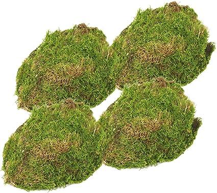 com-four® 4X grünes DIY Bastel-Moos - echtes Deko-Moos zum Basteln und Dekorieren - ca. 25 g je Beutel (4 Stück - Deko Moos)