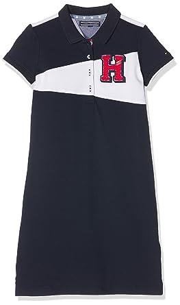 0dbd380d Tommy Hilfiger Girls Badge Polo Dress S/S, Blue (Navy Blazer 431), 140 cm  (Size: 10): Amazon.co.uk: Clothing