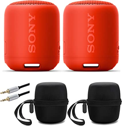 Sony SRS-XB12 Extra Bass Portable Bluetooth Speaker with Hardshell Carrying Case Bundle Gray