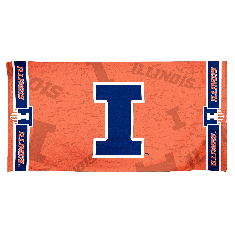 30 x 60 WinCraft NCAA Illinois Illini Fiber Beach Towel Multicolor