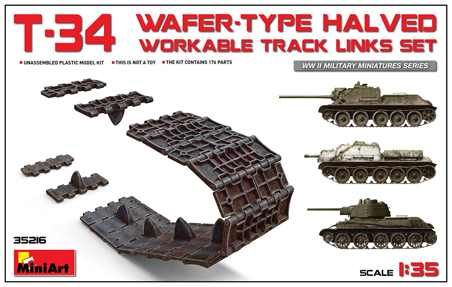 (MIN35216) - Miniart 1:35 - T-34 Wafer Type Halved Workable Track Links