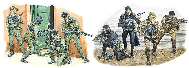 Dragon Models 1/35 US Navy Seal Team 6 (8 Figures Set)