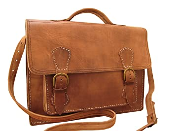 10227f6603b3 Casami Leather Genuine Briefcase Satchel Shoulder Bag S31  Amazon.co ...