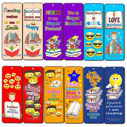 Amazon Com Creanoso Smiley Face Bookmarks Cards For Kids 60 Pack