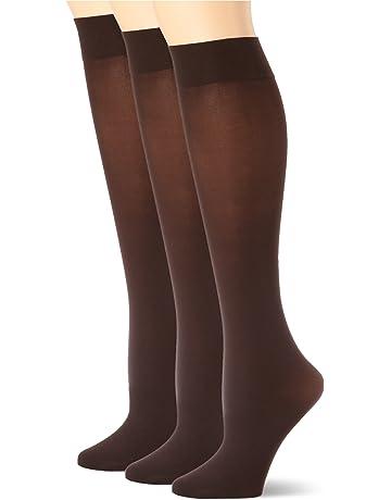 3299e070e1363 HUE Women's Soft Opaque Knee High Socks (Pack of ...