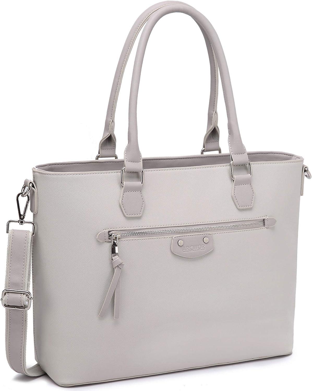 Laptop Bag for Women 15.6 Inch, Work Computer Tote Structured Briefcase Handbag