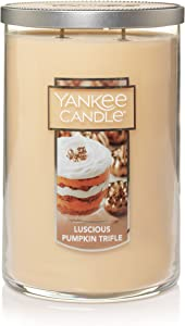 Yankee Candle Large 2-Wick Tumbler Scented Candle, Luscious Pumpkin Trifle