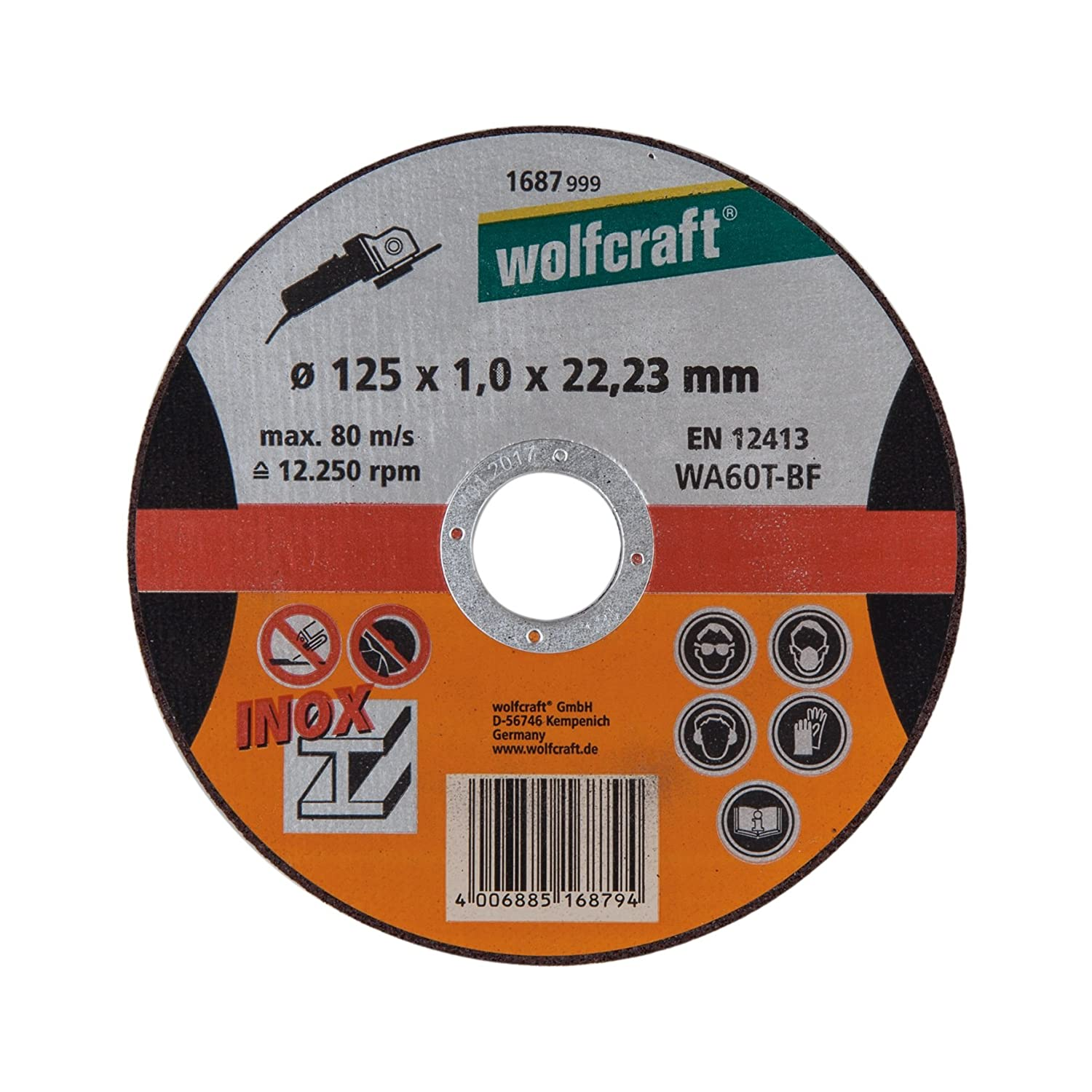 Amazon.com: Wolfcraft - Disco de corte (acero inoxidable ...