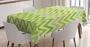 ZOOM ZOOM CHEVRON Zig Zag Tablecloth Choose Your Size Village Natural Table Linen Wedding Home Decor Dining Kitc Premier Prints