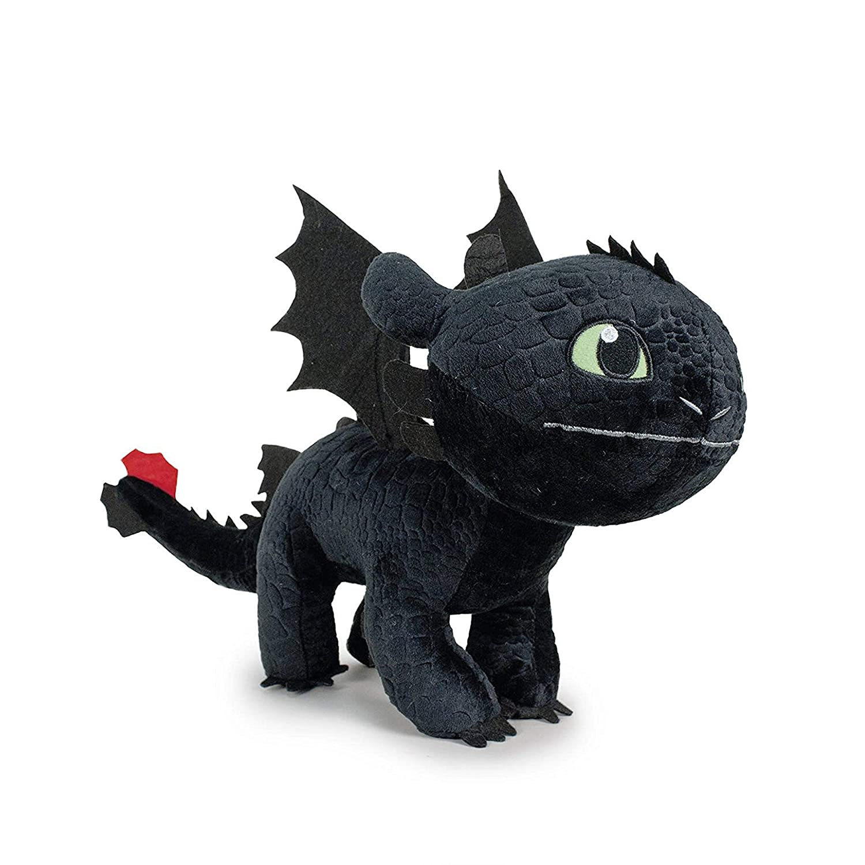 HTTYD Drachenzähmen leicht gemacht - Dragons - Plüsch Figur Kuscheltier Drachen Ohnezahn Toothless 11'/30cm - 76001661-1