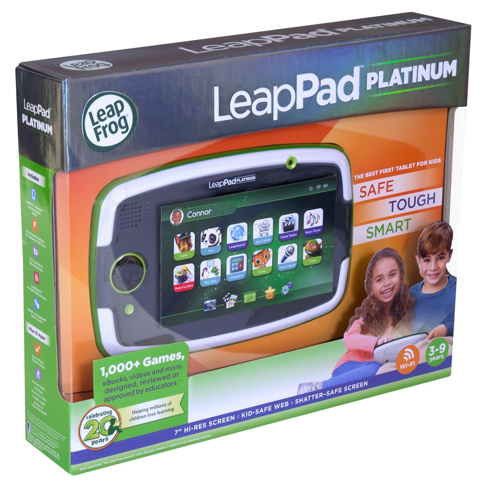LeapFrog LeapPad Platinum Kids Learning Tablet, Green by LeapFrog. (Image #17)