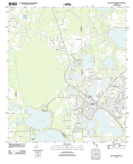 Amazon.com: Florida Maps | 2012 Keystone Heights, FL USGS Historical ...