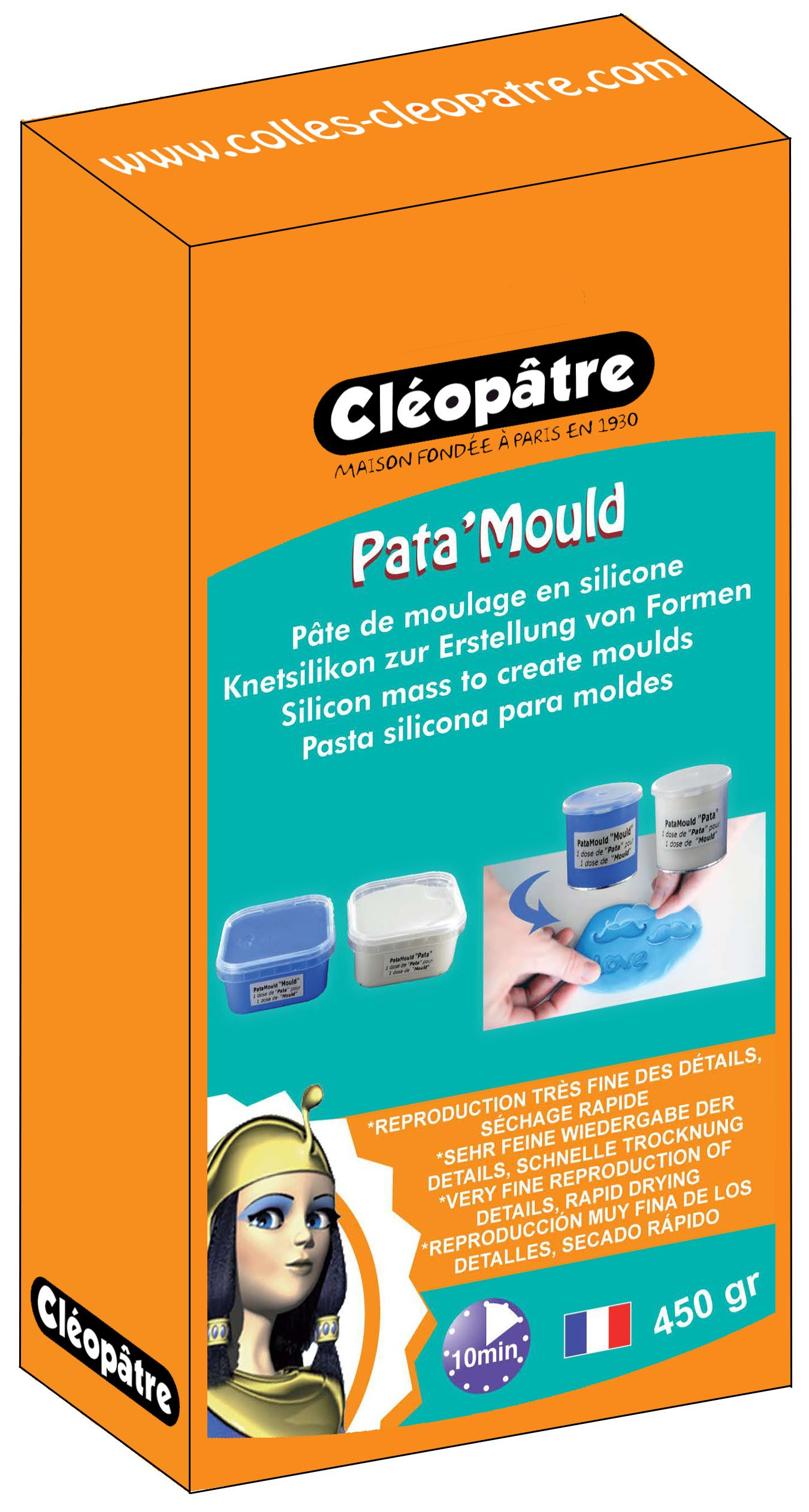 Cléopâtre LCC22 HS-450-P2 E1 2 Silicone Moulding Paste, Parts, Learning Materials Blue/White