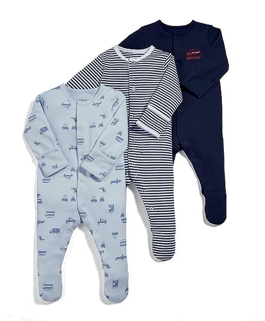 Mamas & Papas Pelele (Pack de 3 para Bebés: Amazon.es: Ropa ...