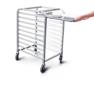 New Star 1 pc Commercial Kitchen 10 Tier Bun Pan Rack Sheet Pan Rack with Brake Wheel