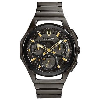 09538d450 Amazon.com: Bulova Men's Curv Bracelet - 98A206 Grey IP One Size: Watches